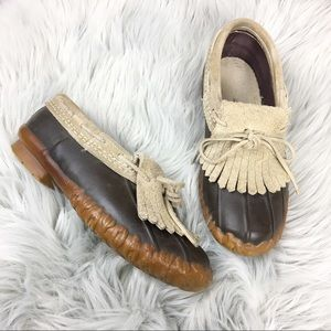 Vintage LLBean Maine Hunting Shoe Kiltie Moccasin